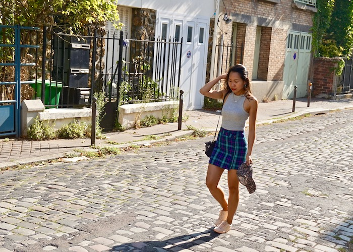 Plaid Skirt and Crop Top
